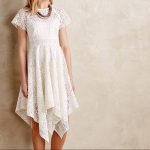 Anthropologie Maeve White Dress
